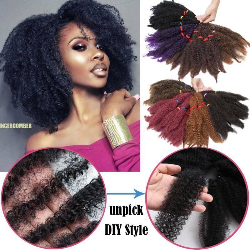 Marley Braids Hair Afro Kinky Bulk 11 Crochet Braid As Human Hair Extensions Uk Ebay