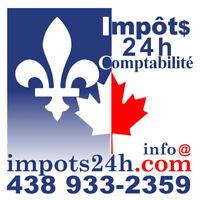 Impôts comptable rapide & pas cher Bureau/Distance 438 933-2359