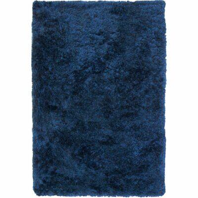 Abacasa Luxe Shag Blue 5x8 Area Rug