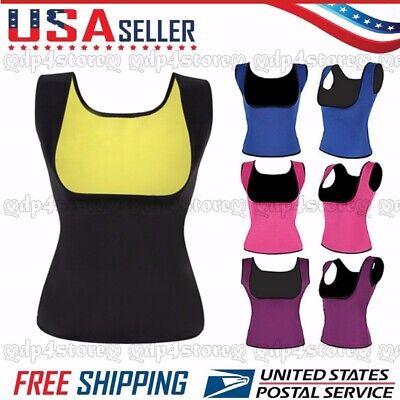 Women Cami Hot Shapers Thermo Neoprene Sauna Vest Sweat Waist Trainer (Singlet Womens)