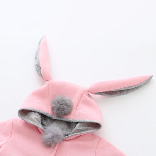 Toddler Baby Girls Bunny Hooded Coat Outwear Winter Tops