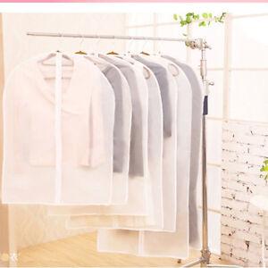 clothes hanging garment suit coat dust cover protector wardrobe storage bag ebay. Black Bedroom Furniture Sets. Home Design Ideas