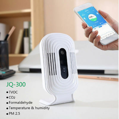 JQ300 PM2.5 Air Quality Humidity Tester Wifi Smart Monitor Formaldehyde Detector ()