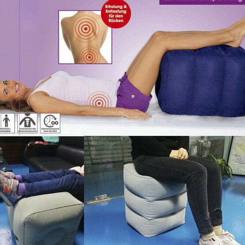 Useful Inflatable Portable Travel Footrest Pillow Plane Trai