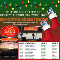 Lower Bowl Oilers Tickets - Makes Great X-Mas Gift!