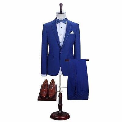 2019 Royal Blue 3 Pieces Best Man Suit Notch Lapel Groomsman Men Wedding