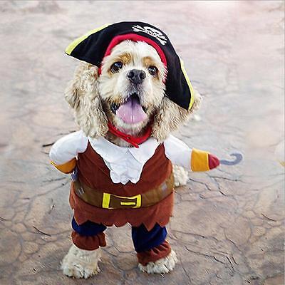 Pirat Hundekostüm Kleidung Lustige Halloween Hund Pirat Jacke Mantel 1 Set ()