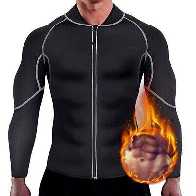 Men Sauna Body Shaper Fitness Neoprene Weight Loss Long Slee