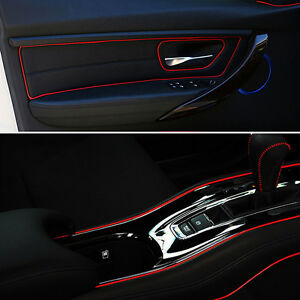 for universal car interior red edge gap line garnish molding accessory 5m point. Black Bedroom Furniture Sets. Home Design Ideas