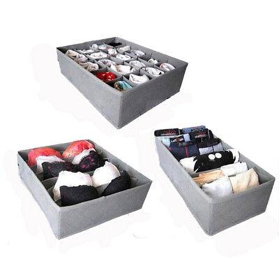 3 Pack Lagerung Schublade Veranstalter Lagerung Lösung Ordentlich Socken BH Neu