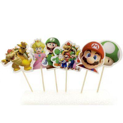 Geburtstagsparty Super Mario Thema Kinder Jungen Geschenke Cupcake Deckel With… ()