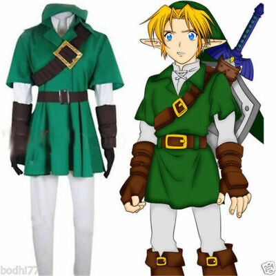 The Legend of Zelda Link Cosplay Costume Uniform Halloween Outfit Custom Made