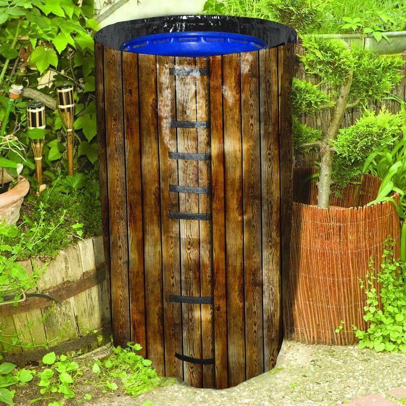 Noor Regenfass Umhüllung Regentonnenhülle Hülle Regentonne Cover UV-stabilisiert