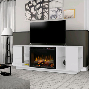Nouveau , New Entertainment, Media Console with Fireplace