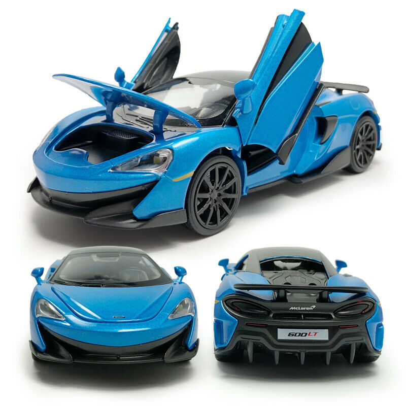 McLaren 600LT 2019 Supercar 1:32 Model Car Diecast Toy Kids Collection Blue