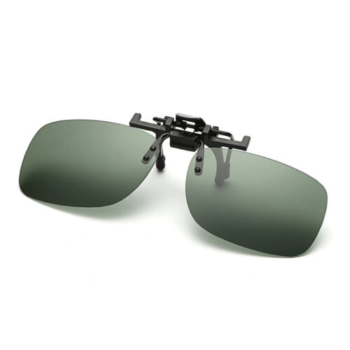 Polarized Adult Day Night Vision Flip-up Clip-on Lens Driving Glasses Sunglasses