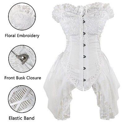 Corset Tutu Dress (Fashion Womens Gothic Vintage Lace Trim Corset Dress Costume With TuTu Plus)