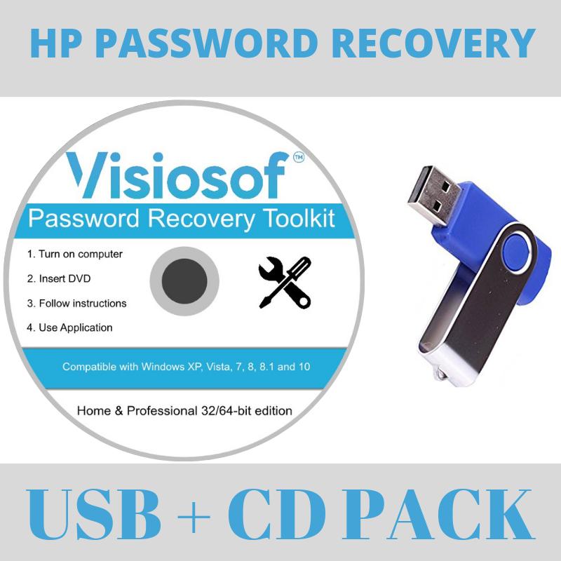 HP Password Recovery Software Reset Disk USB Windows 10 8.1 7 Vista XP