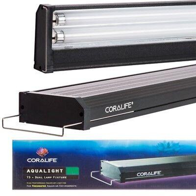 Coralife Aqualight Dual Lamp (Coralife Aqualight T5 Dual Fluorescent Lamp Fixture for Freshwater)