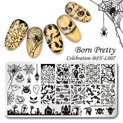 BORN PRETTY Nail Art Stamp Template Halloween Theme Image Plate DIY BPX-L007 - Diy Halloween Nail Art