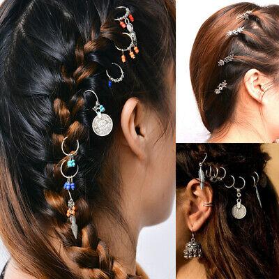 Charms Hair Braid Dread Dreadlock Beads Hair Clips Cuffs Rings Jewelry Clasps hi - Dread Hair Clips
