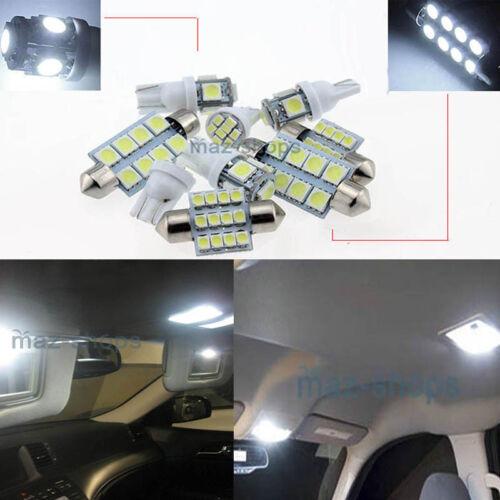 White Light LED Interior Light 8X Kit FIT Chevy Suburban & Tahoe 07-12 W1