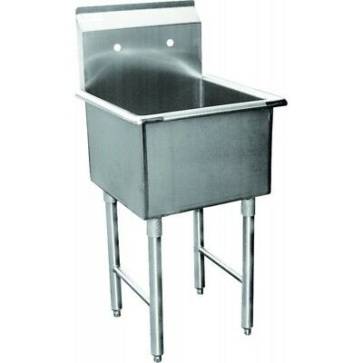 "1 Compartment Mop Sink 24""x24"" Stainless Steel"