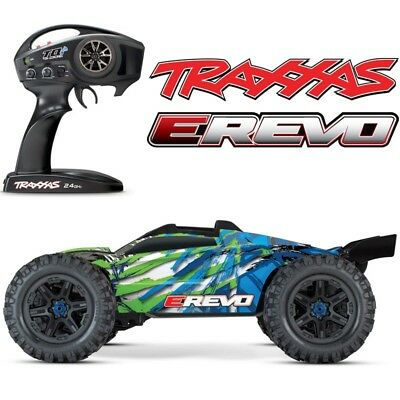 NEW Traxxas E-Revo 2.0 VXL Brushless RTR RC 4WD Monster Truck GREEN w/TSM