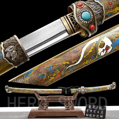 Handmade Japanese officer saber Samurai Katana Sword DRAGON Tachi Very Sharp
