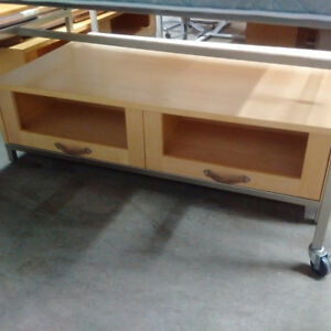 Large & Low Display Table w/ Drawers