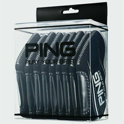 PING Golf Iron Club Head Cover (9pcs) / Black Neoprene