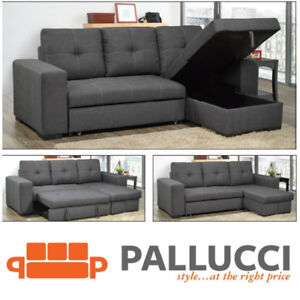 ASPEN REVERSIBLE SECTIONAL SOFABED W/STORAGE - $1199 ONLY!
