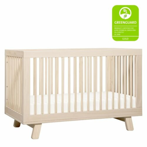 3-in-1 Convertible Crib, Versatile Rounded Spindle Mid-century Modern Design