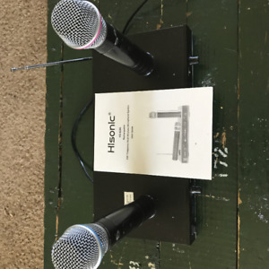 Hisonic VHF Dual Rechargeable Wireless Microphone System, HS8286