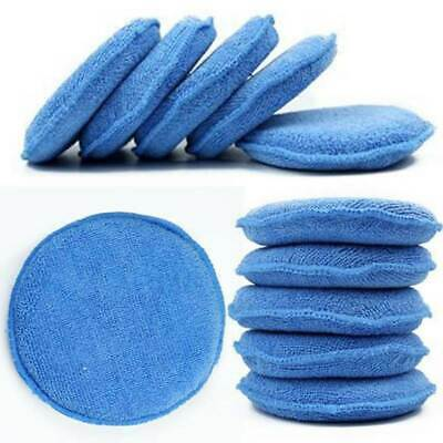 10* Car Applicator Cleaning Polish Pad Foam Sponge Microfiber Waxing Detailing