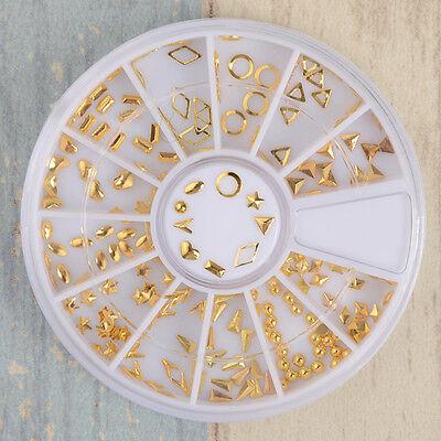 3D Nail Art Gold Circle  Shape Design Charms DIY  Decoration