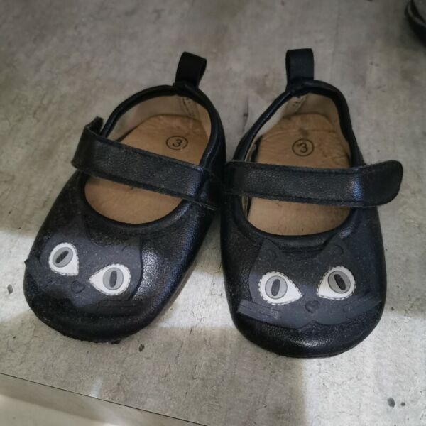Baby Shoes cat black size 3