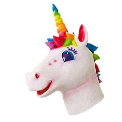 Arcobaleno Unicorn Maschera Animale Testa Costume Lattice Pony Halloween Cavallo