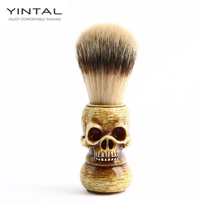 Men Shaving Brush Resin Skull Head Badger Beard Brush Skeleton Makeup Brush - Mens Skull Makeup