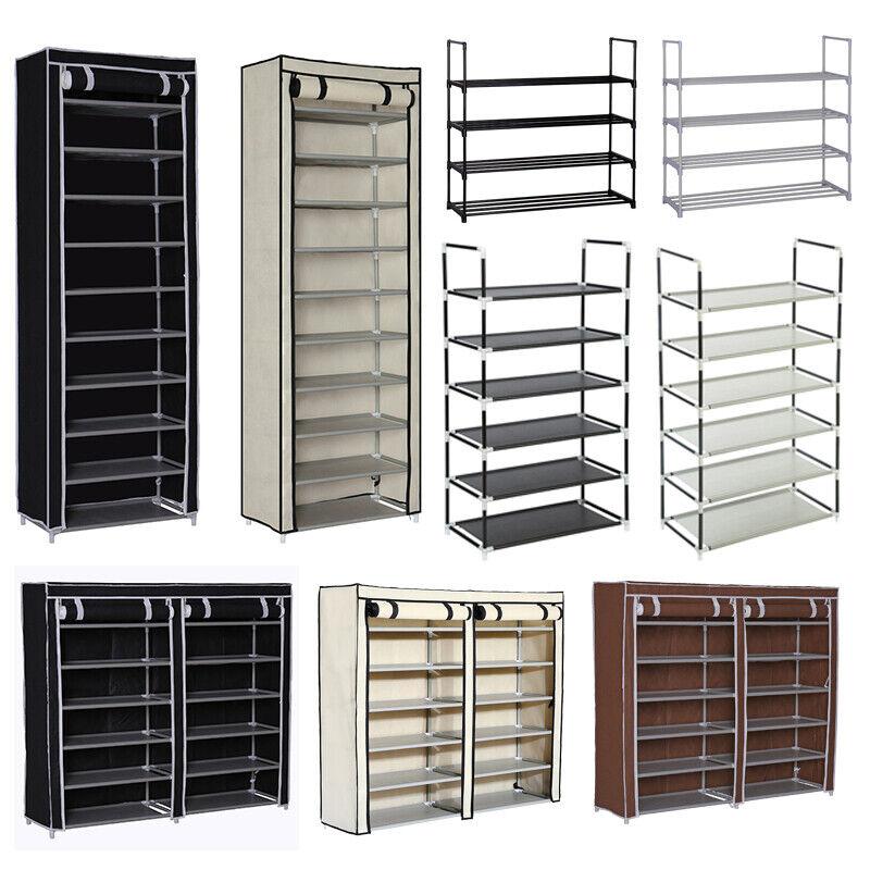 4 6 10 tier shoe rack storage