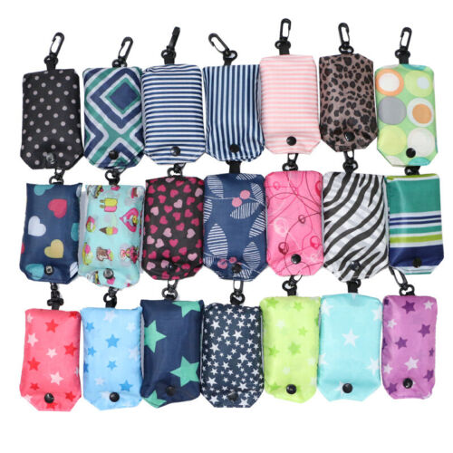 Foldable Grocery Handbag Travel Tote Pouch Reusable Shopping