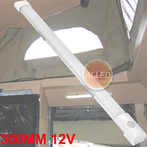 12V-300MM-LED-Strip-Tube-Light-Switch-White-Frosted-Caravan-Marine-boat-Lamp