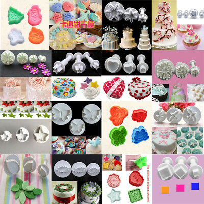 Cookies Plunger Cutter Fondant Cake Decor Mould Biscuit Pastry Sugarcraft - Cake Decor