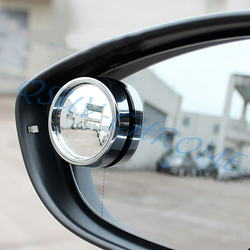 Round Car Side Rearview Blind Spot Mirror Wide Angle Silver Style Accessories