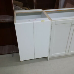 White Vanity Cabinet - No Top or Handles