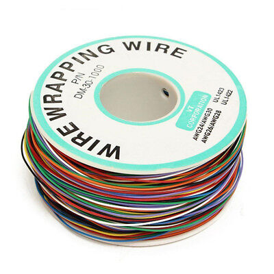 250m 8-wire Colored Insulated Pn B-30-1000 30awg Wire Wrapping Cable Wrap Reel