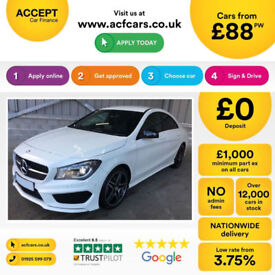 WHITE MERCEDES-BENZ CLA 220 200 180 CDI AMG LINE Coupe SPORT FROM £88 PER WEEK!