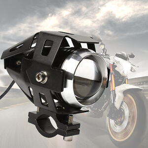 2x 125W Waterproof U5 LED Motorcycle Headlight 3000LM CREE