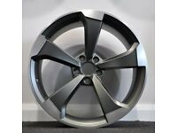 "19"" RS3 Black Edition style alloy Wheels & Tyres Audi A3, A4 VW MK,6,7, Golf, Caddy, Jetta, Seat"