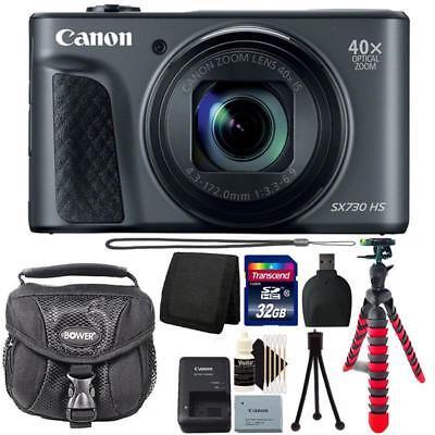 Canon Powershot SX730 HS Digital Camera (Black) and 32GB Accessory Kit